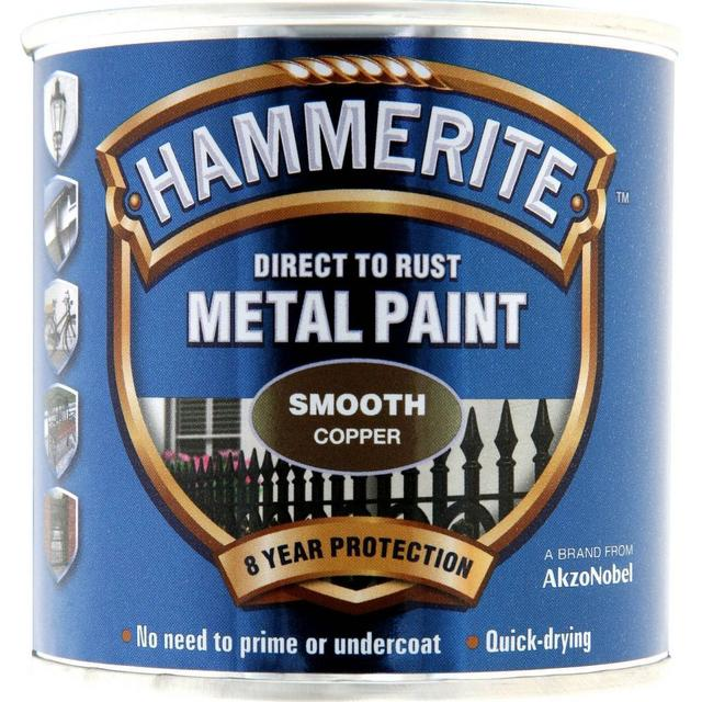 Hammerite Direct to Rust Smooth Effect Metal Paint Gold 0.25L