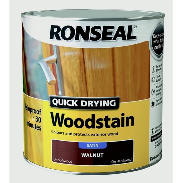 Ronseal Quick Drying Woodstain Brown 2.5L