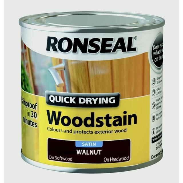 Ronseal Quick Drying Woodstain Brown 0.25L