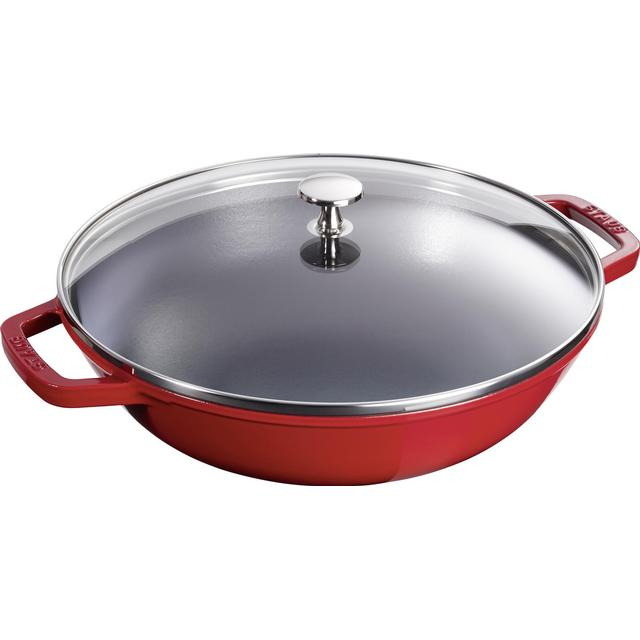 Staub Stainless Steel Wok with lid 30cm