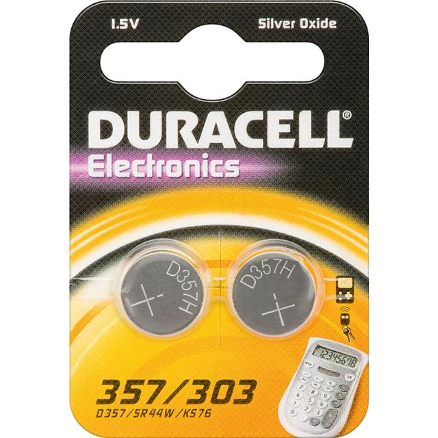 Duracell 303/357 Silver Oxide 2-pack