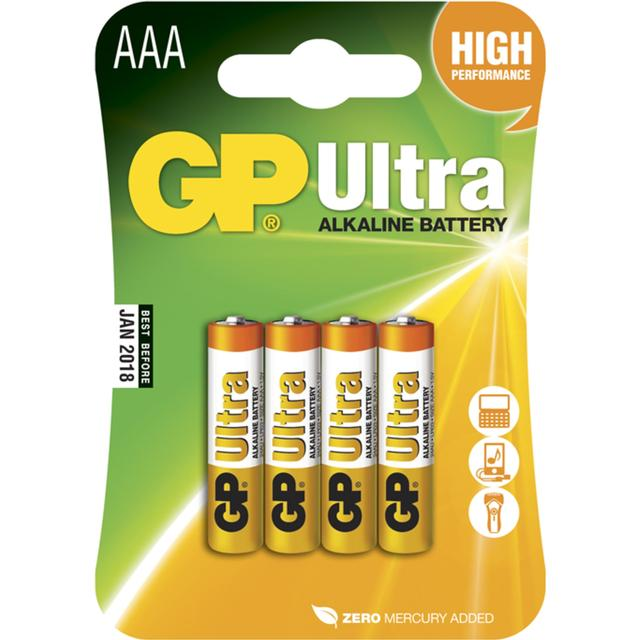 GP Batteries 24AU AAA LR6 Ultra 4-pack