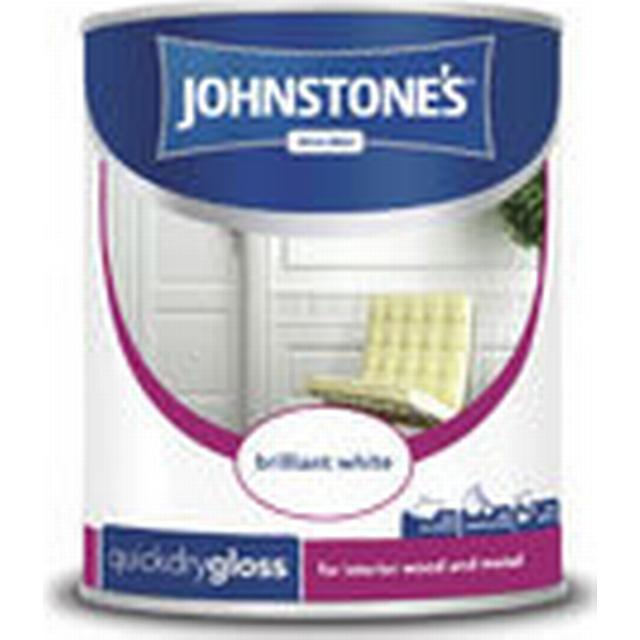 Johnstones Quick Dry Gloss Wood Paint White 0.75L