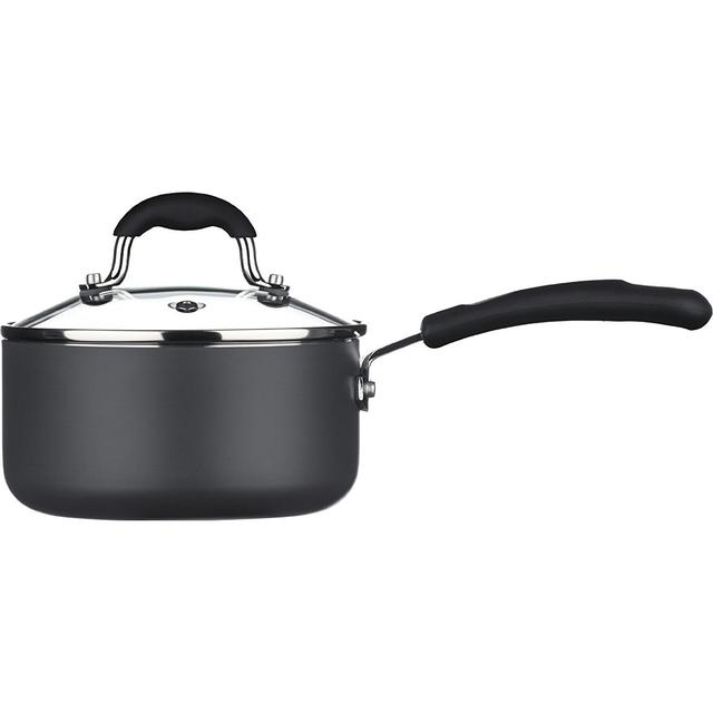 Sorted Aluminuim Sauce Pan with lid 16cm