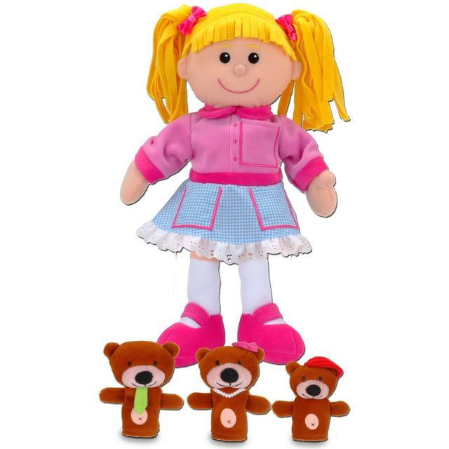 Fiestacrafts Goldilocks & the Three Bears Hand & Finger Puppet Set