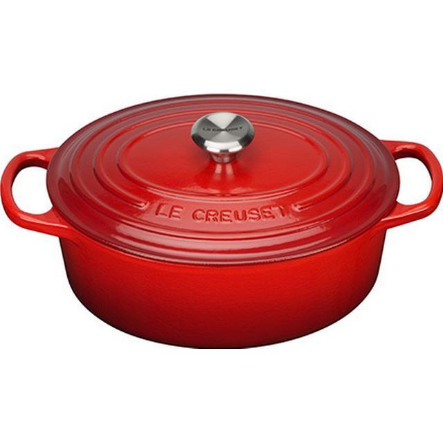 Le Creuset Cerise Signature Cast Iron Oval Other Pots with lid 25cm
