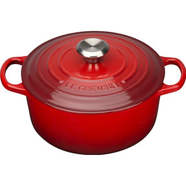 Le Creuset Cerise Signature Cast Iron Round Other Pots with lid 24cm