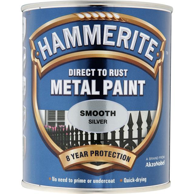Hammerite Direct to Rust Smooth Effect Metal Paint Silver 5L