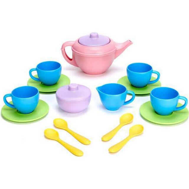 Green Toys Tea Set Pink Teapot
