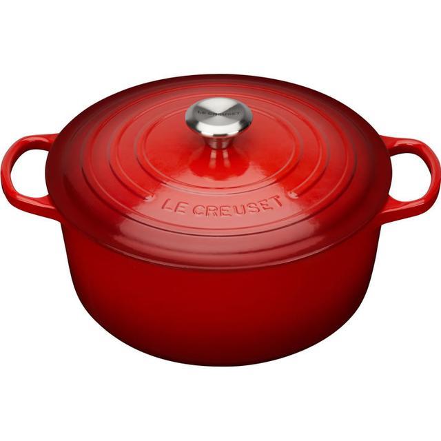Le Creuset Cerise Signature Cast Iron Round Other Pots with lid 28cm