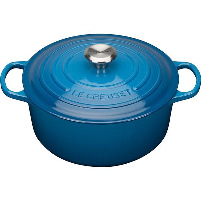 Le Creuset Marseille Blue Signature Cast Iron Round Other Pots with lid 26cm