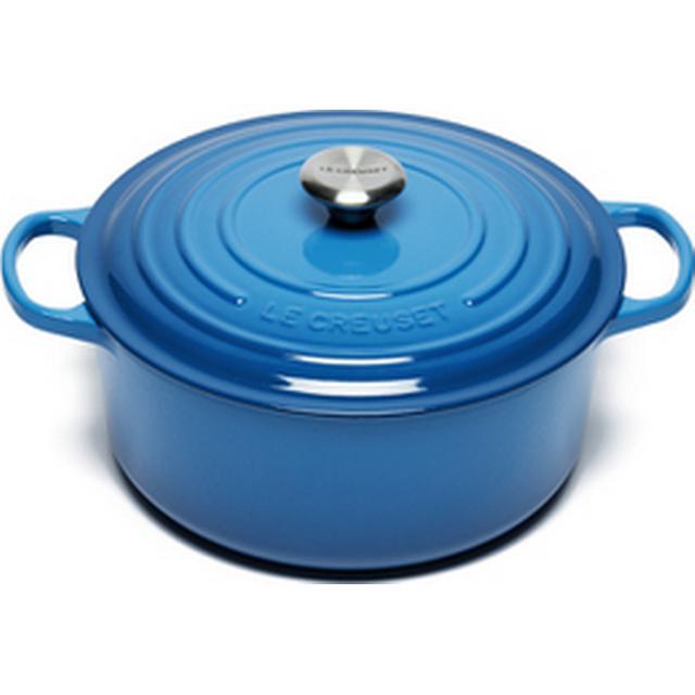 Le Creuset Marseille Blue Signature Cast Iron Round Other Pots with lid 28cm