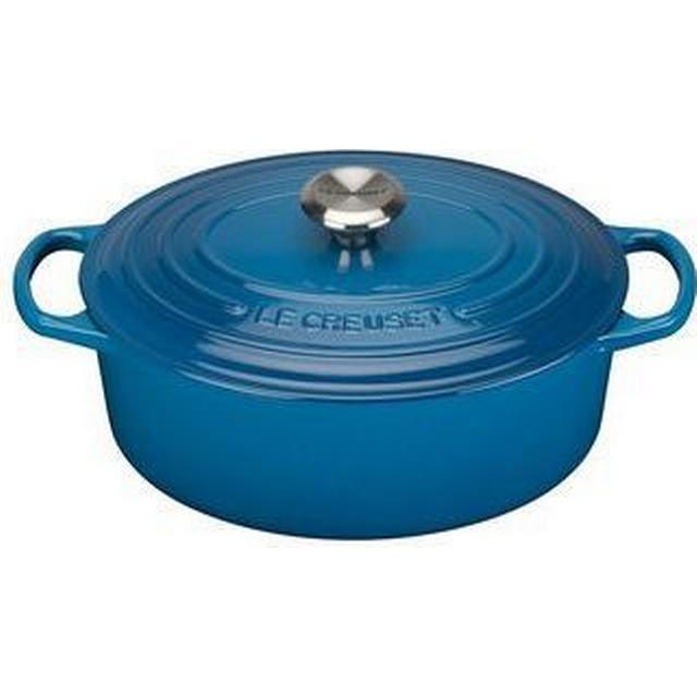 Le Creuset Marseille Blue Signature Cast Iron Oval Other Pots with lid 31cm