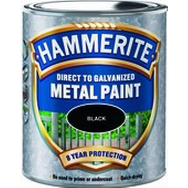 Hammerite Direct to Galvanised Metal Paint Black 0.75L