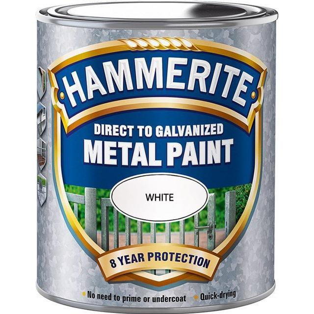 Hammerite Direct to Galvanised Metal Paint White 0.75L