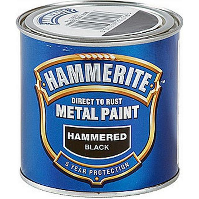 Hammerite Direct to Rust Hammered Effect Metal Paint Black 0.25L