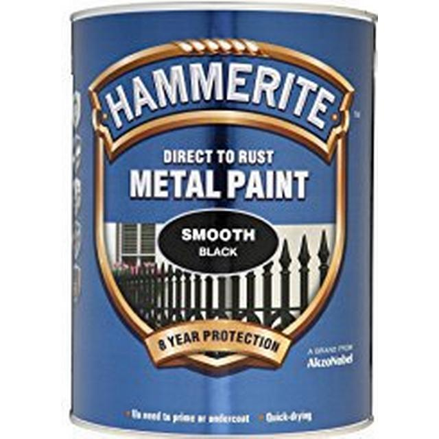 Hammerite Direct to Rust Smooth Finish Metal Paint Black 5L