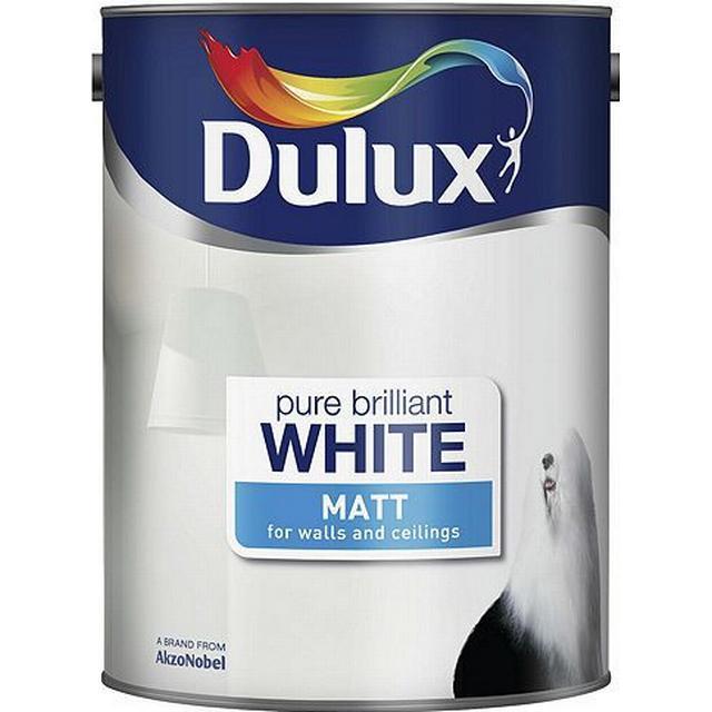 Dulux Matt Wall Paint, Ceiling Paint White 5L