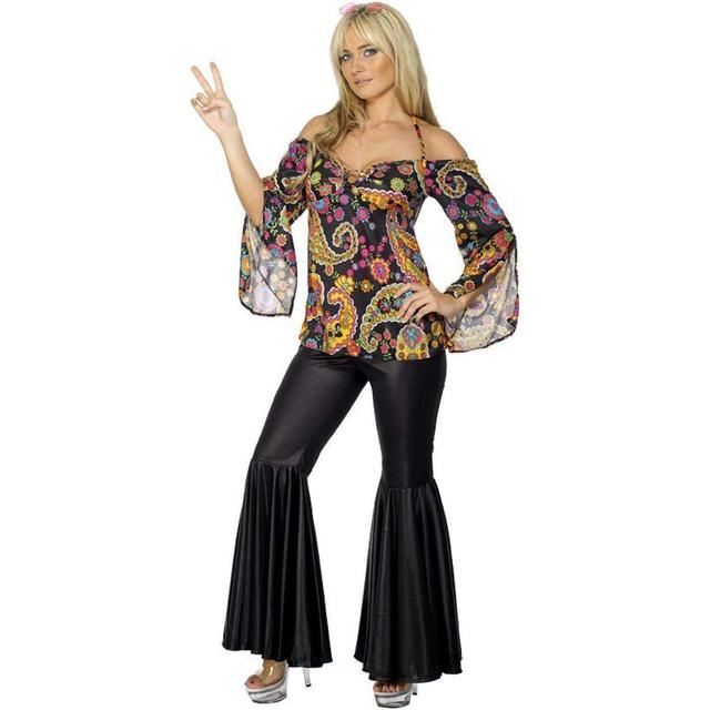 Woodstock Hippie Chick Costume Smiffys Fancy Dress Costume