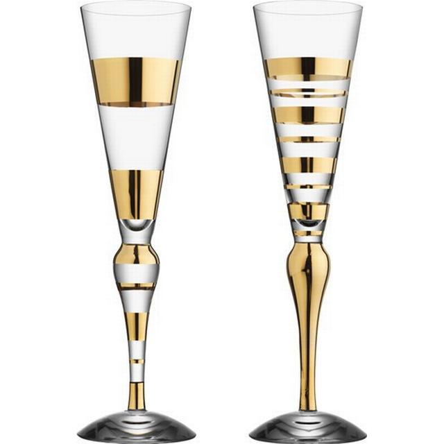 Orrefors Clown Champagne Glass 22 cl 2 pcs