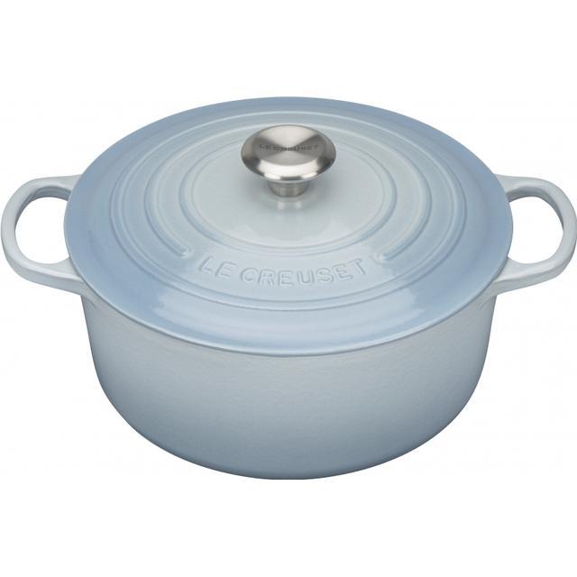 Le Creuset Coastal Blue Signature Cast Iron Round Other Pots with lid 24cm