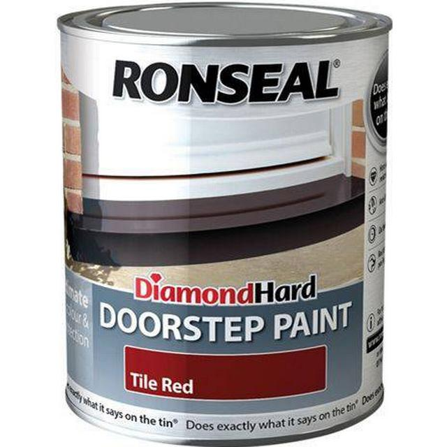 Ronseal Diamond Hard Doorstep Concrete Paint Red 0.25L