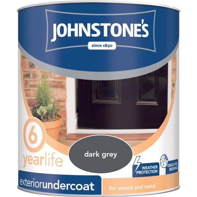 Johnstones Weatherguard Exterior Undercoat Wood Paint, Metal Paint Grey 2.5L