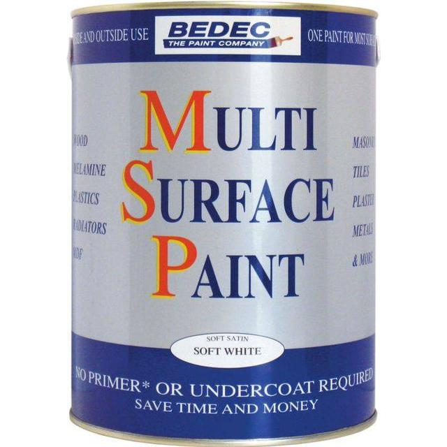Bedec Multi Surface Wood Paint, Metal Paint White 0.75L