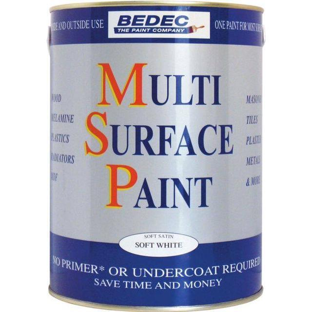 Bedec Multi Surface Wood Paint, Metal Paint White 2.5L