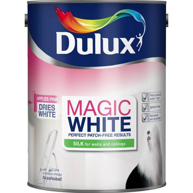 Dulux Magic White Silk Wall Paint, Ceiling Paint White 5L
