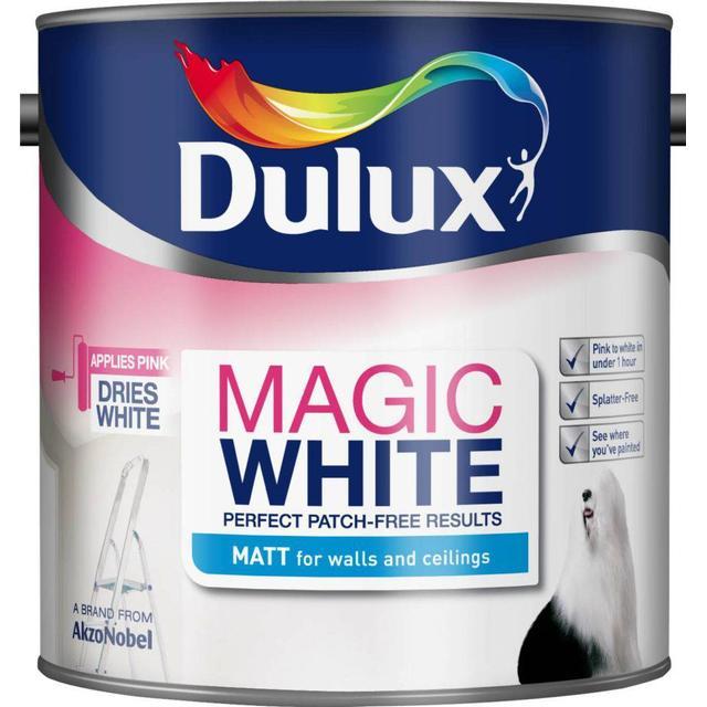 Dulux Magic White Matt Wall Paint, Ceiling Paint White 2.5L