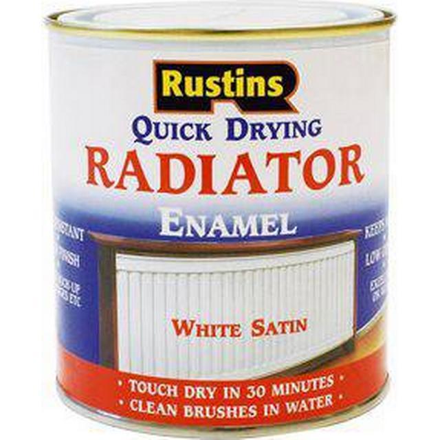 Rustins Quick Dry Radiator Paint White 0.5L