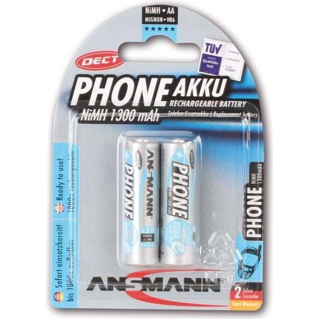 Ansmann NiMH Mignon AA 1300mAh Compatible 2-pack