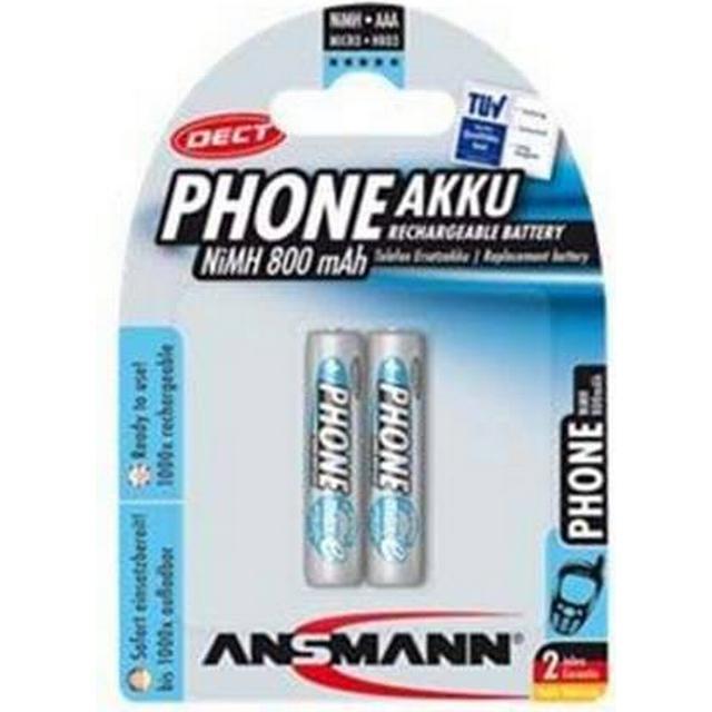 Ansmann NiMH Micro AAA 800mAh MaxE Compatible 2-pack