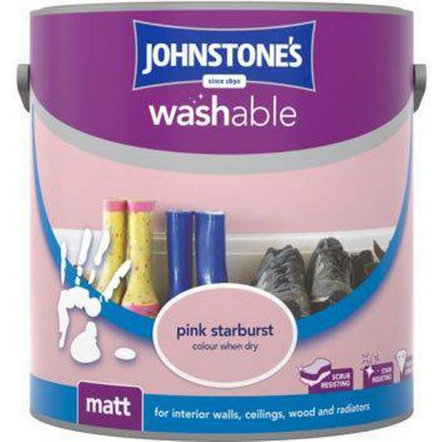 Johnstones Washable Matt Wall Paint, Ceiling Paint Pink 2.5L