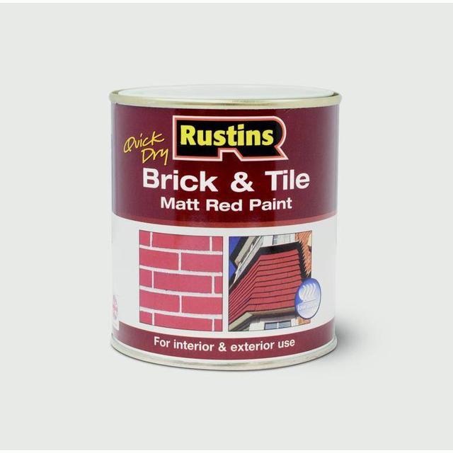 Rustins Quick Dry Brick & Tile Floor Paint Red 1L