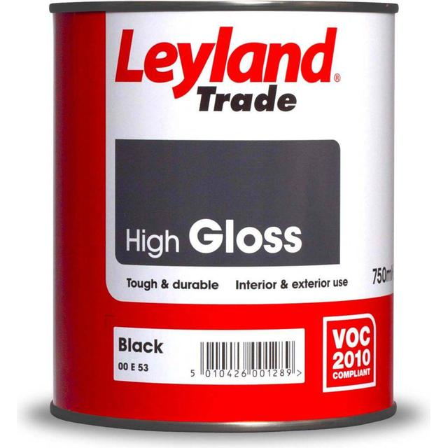 Leyland Trade High Gloss Wood Paint Black 2.5L