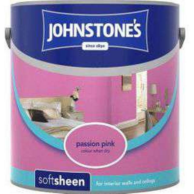 Johnstones Soft Sheen Wall Paint, Ceiling Paint Pink 2.5L