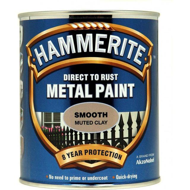 Hammerite Direct to Rust Smooth Metal Paint Beige 0.75L