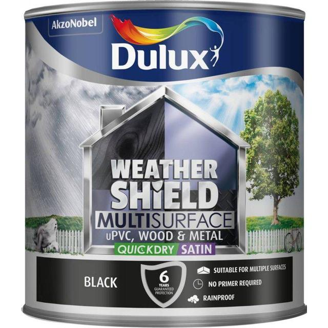 Dulux Weathershield Multisurface Wood Paint, Metal Paint Black 2.5L