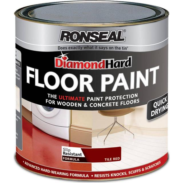 Ronseal Diamond Hard Floor Paint Red 0.75L