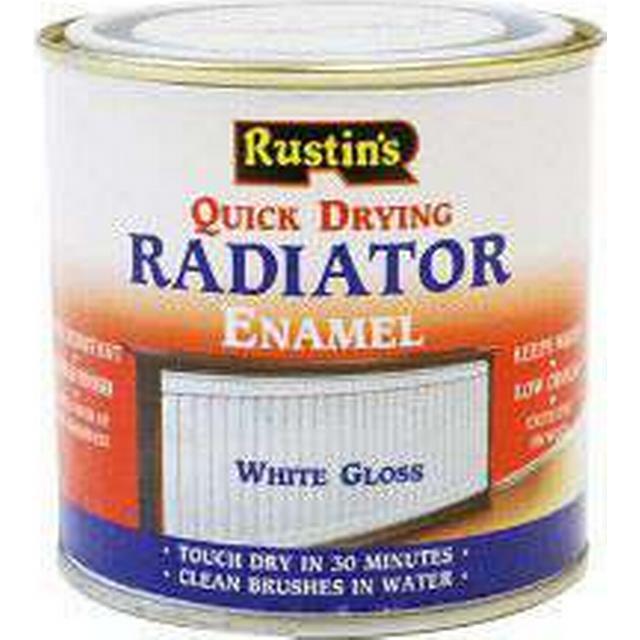 Rustins Quick Dry Radiator Paint White 0.25L