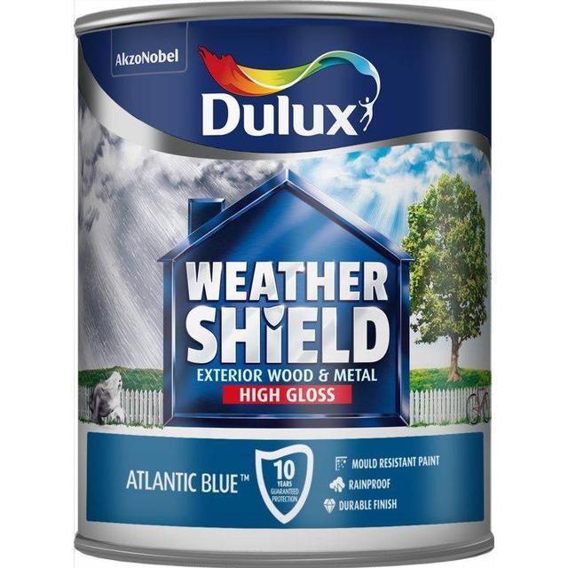 Dulux Weathershield Exterior Wood Paint, Metal Paint Blue 0.75L