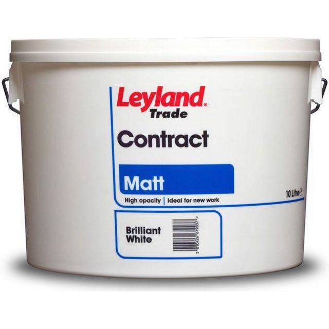 Leyland Trade Contract Matt Wall Paint, Ceiling Paint Beige 10L