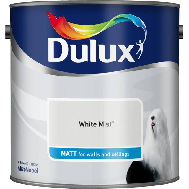 Dulux Matt Wall Paint, Ceiling Paint White 2.5L