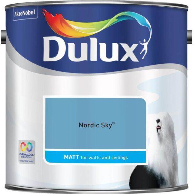 Dulux Matt Wall Paint, Ceiling Paint Blue 2.5L