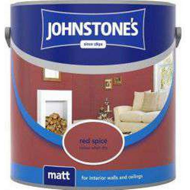 Johnstones Matt Wall Paint, Ceiling Paint Red 2.5L