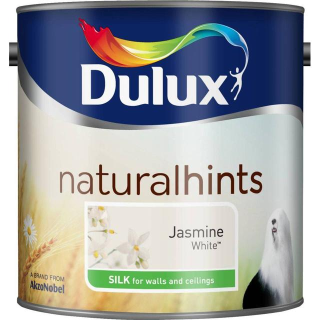 Dulux Natural Hints Silk Wall Paint, Ceiling Paint White 2.5L
