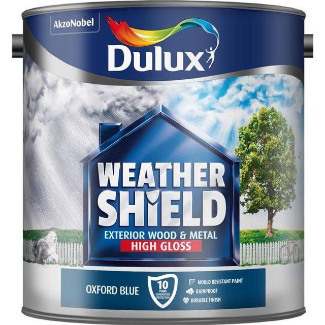 Dulux Weathershield Exterior Wood Paint, Metal Paint Blue 2.5L