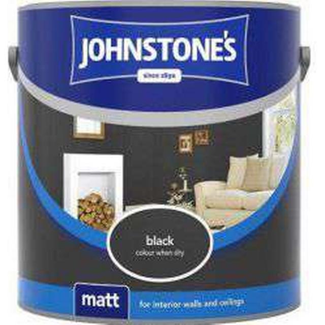 Johnstones Matt Wall Paint, Ceiling Paint Black 2.5L